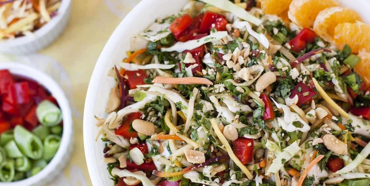 Colorful Sesame Ginger Slaw Salad