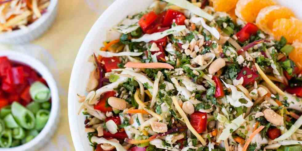 Colorful Sesame Ginger Slaw Salad • Cook Love Heal by Rachel Zierzow