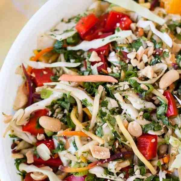 Colorful Sesame Ginger Slaw Salad