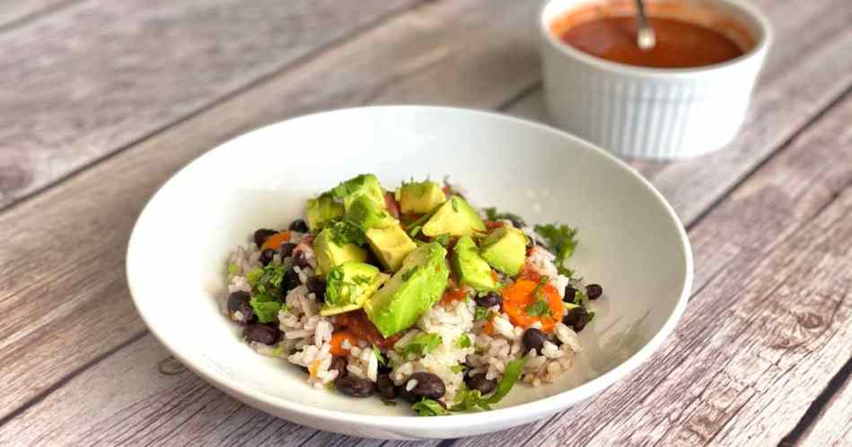 Black Bean Burrito Bowl•Cook Love Heal by Rachel Zierzow
