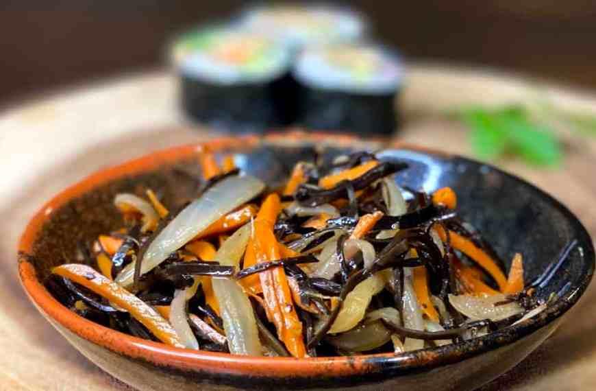 Arame Kinpira with Onion and Carrot