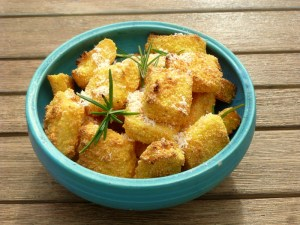 Low FODMAP polenta cubes