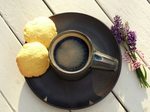 Low FODMAP polenta biscuit