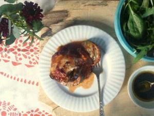 Low FODMAP aubergine bake