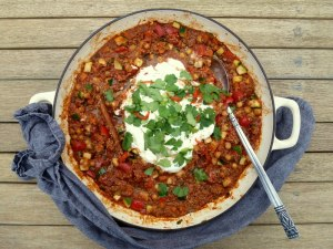 Low FODMAP Veggie Chilli
