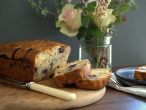 Low FODMAP Banana and Blueberry Loaf