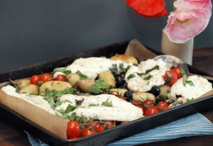 Low FODMAP Mediterranean Baked Fish
