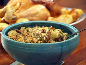 Low FODMAP Chestnut, Grape and Herb Stuffing