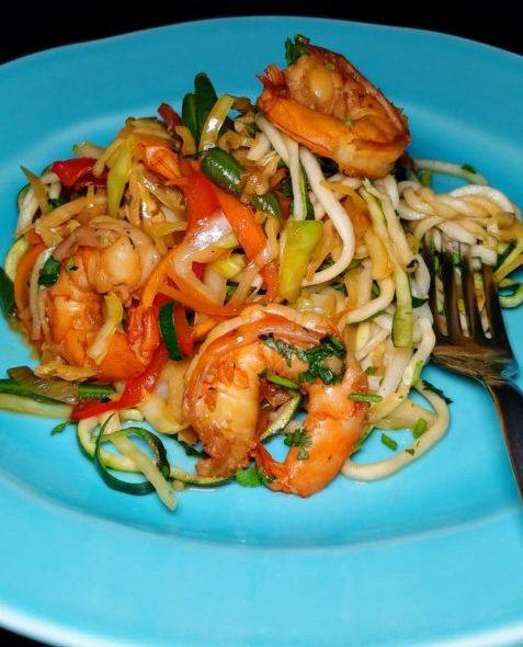 Zucchini Noodle Filipino Pancit