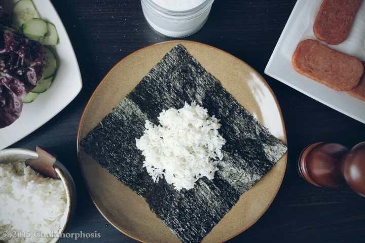 Japanese onigirazu