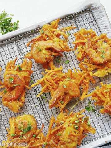 Sweet Potato Shrimp Fritters