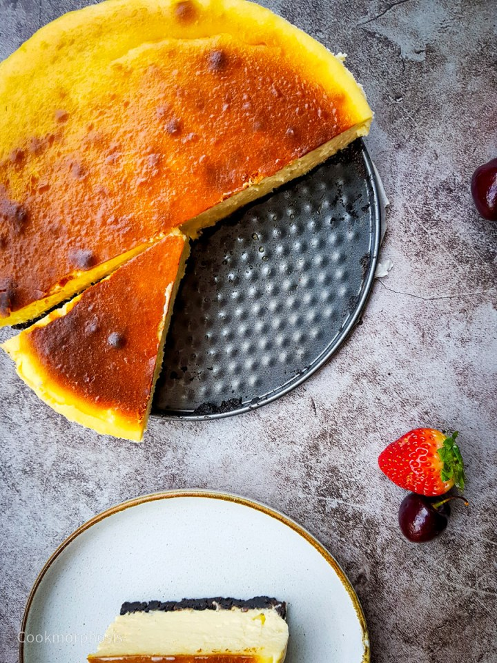 half of creamiest cheesecake recipe