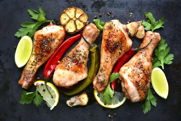 Chili-Roasted Chicken with Roasted Garlic Gravy