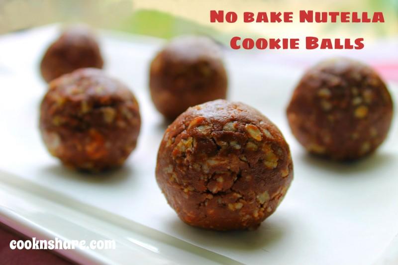 no bake nutella cookie