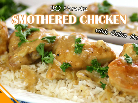 smothered chiken
