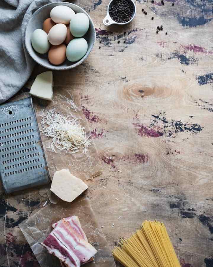 pasta carbonara ingredients