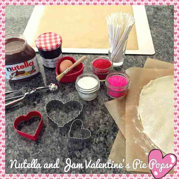 Nutella Valentine Pie Pops Recipe