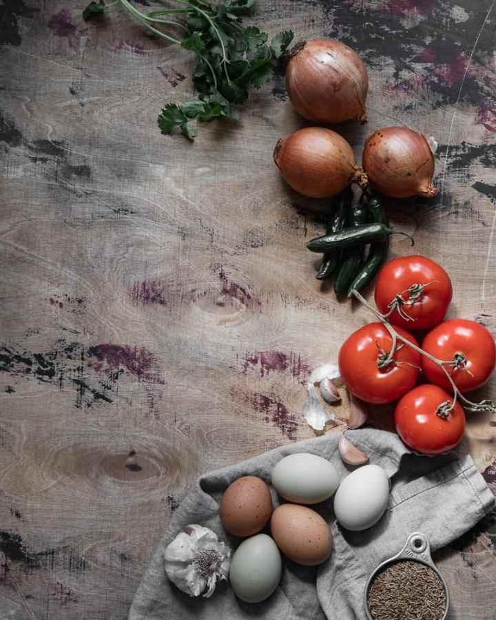 ingredients for afghan scrambled eggs