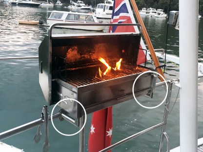 Clamp On Rail Mounts Boat BBQ