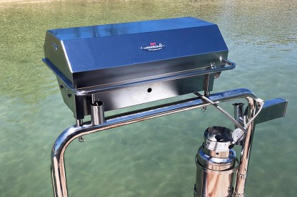 Australian made 316 marine grade stainless steel gas boat bbq - Deluxe model
