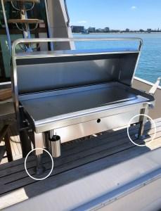 Flush Deck Mounts for Boat BBQ
