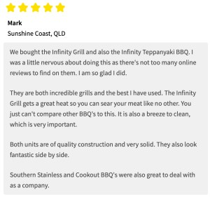 Infinity Grill BBQ Review - Mark QLD
