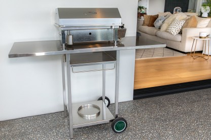 Stainless Steel Cookout BBQ Trolley at home