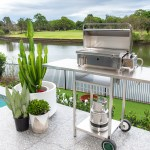 Stainless Steel Cookout BBQ Trolley