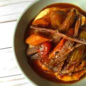 Italian Pot Roast with Polenta