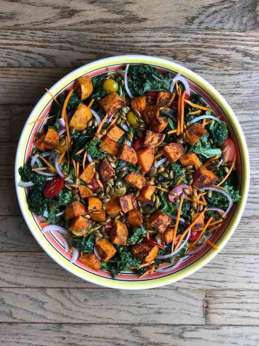 Kale salad with maple vinaigrette
