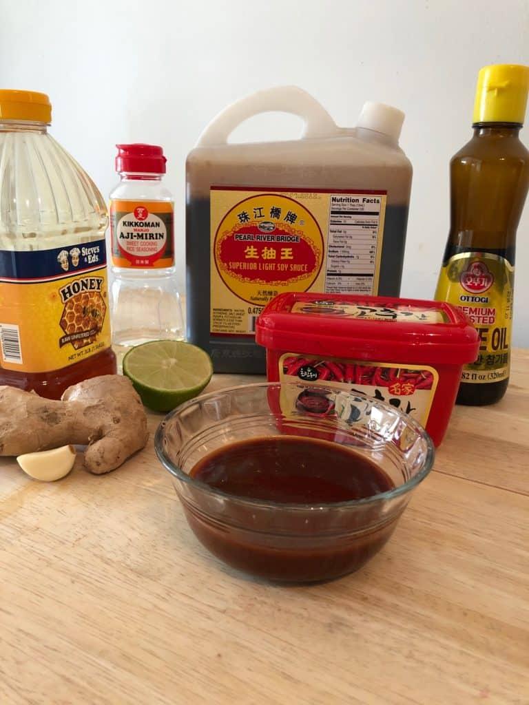 Gochujang Glaze Ingredients