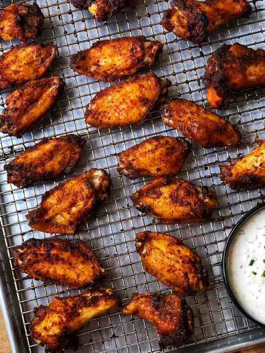 Sweet and Smoky Dry Rub Wings with Buttermilk Ranch Dressing