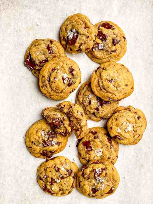 Brown Butter Chocolate Chip Cookies with Flaky Sea Salt