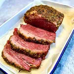 Slices of Crispy Corned Beef