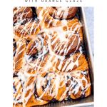 Pinterest image for Orange-Blueberry Cinnamon Rolls