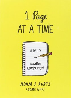 1 page at a time adam kurtz book cover