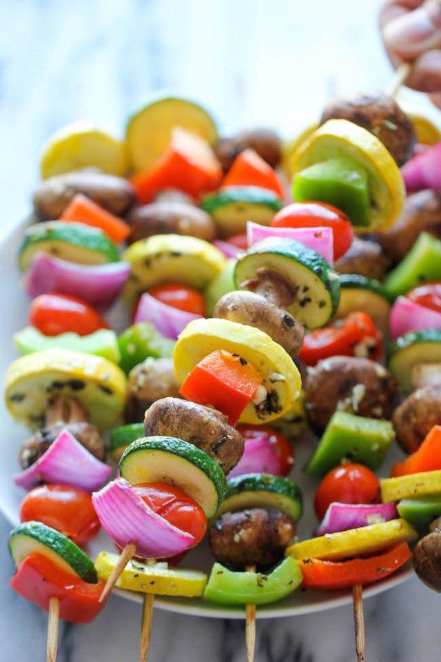 damn delicious cookbook vegetable kabobs