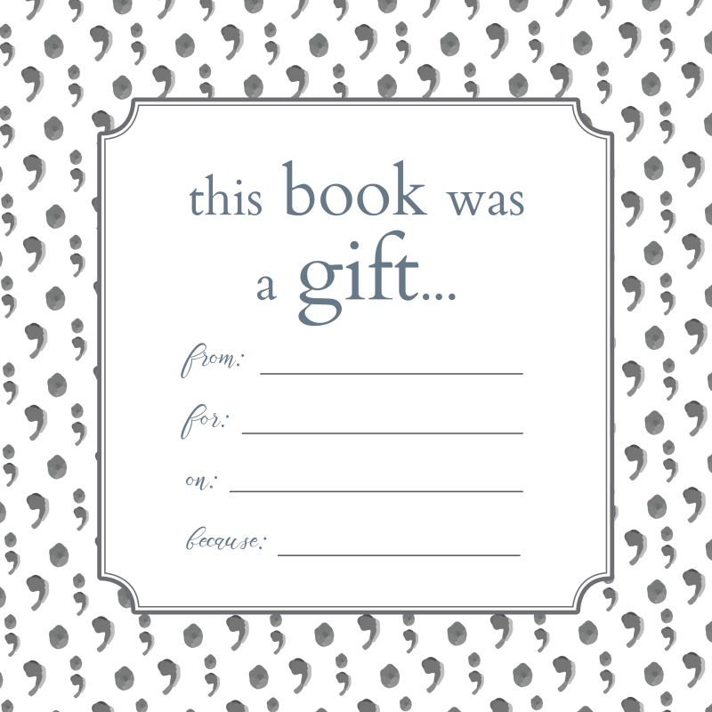 Printable bookplates for gifts & book donations