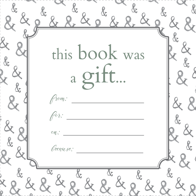 Printable bookplates for donated books for Free printable bookplates templates