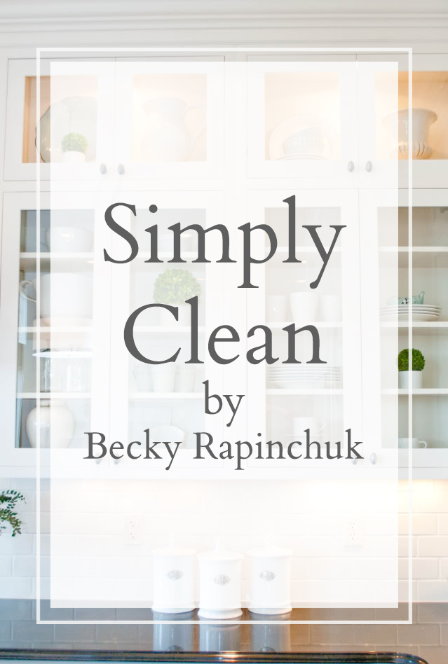 Simply Clean by Becky Rapinchuk book deal