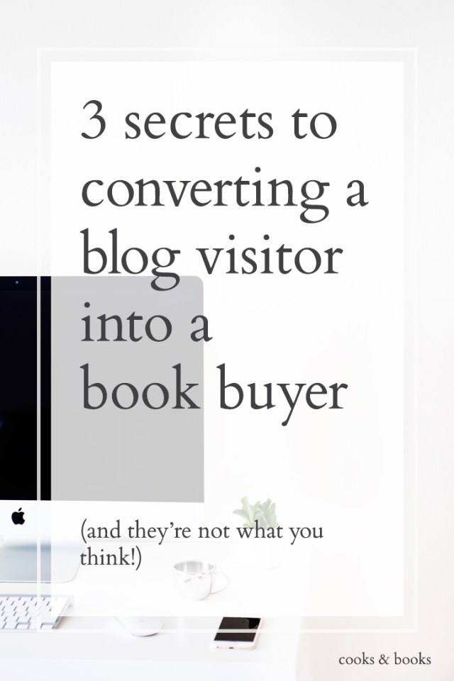 convert blog visitor into book buyer