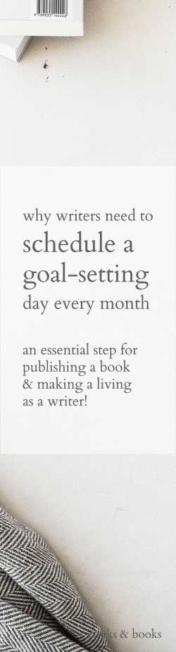 literary agent blog goals for writers