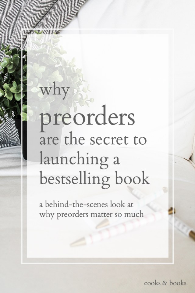 preorders to launch a bestselling book