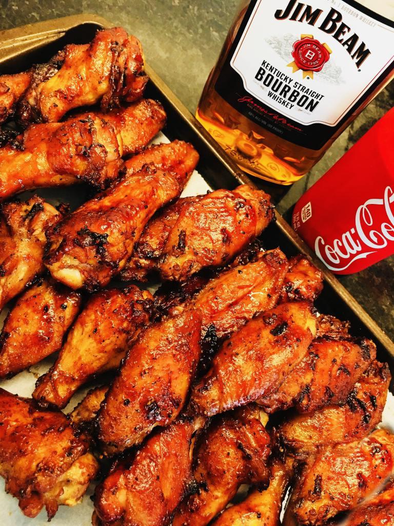 Jim Beam and Coke Glazed Chicken Wings