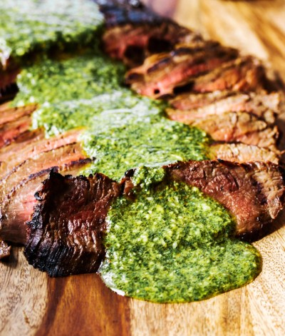 Dinner Recipes Flank Steak Chimichurri Sauce Pesto Tangy Delicious Kitchen Housewares Cooking Chef Grill Oven Meat Beef Meals Cow