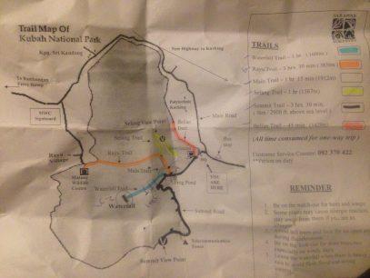 trail map Kubah National Park
