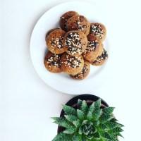 Black Sesame Cookies (biscoitos de sésamo preto)