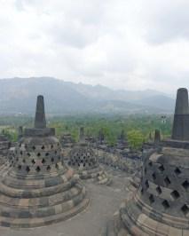 Borobudur temple stupas