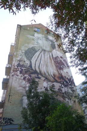 Lilly of the valley Kyiv mural