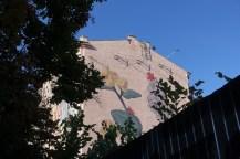 two oeasents Kiev mural
